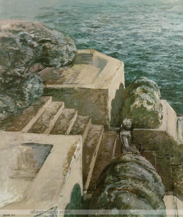 Villa sull'Adriatico, Acrilico su tela, 100x120cm, 1973