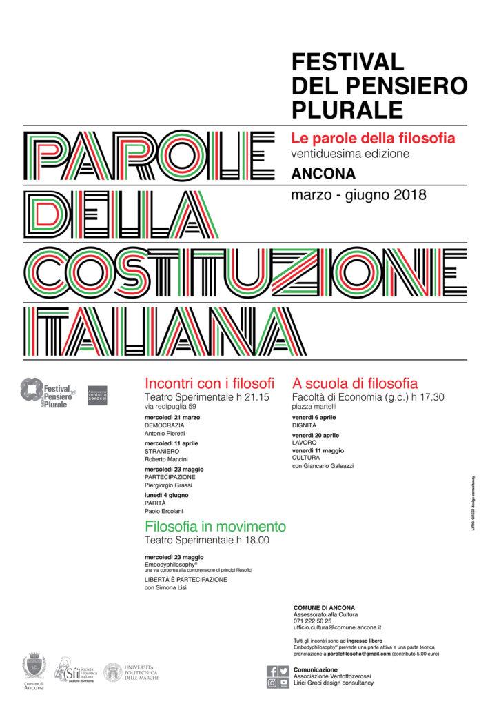 manifesto parole della costituzione italiana