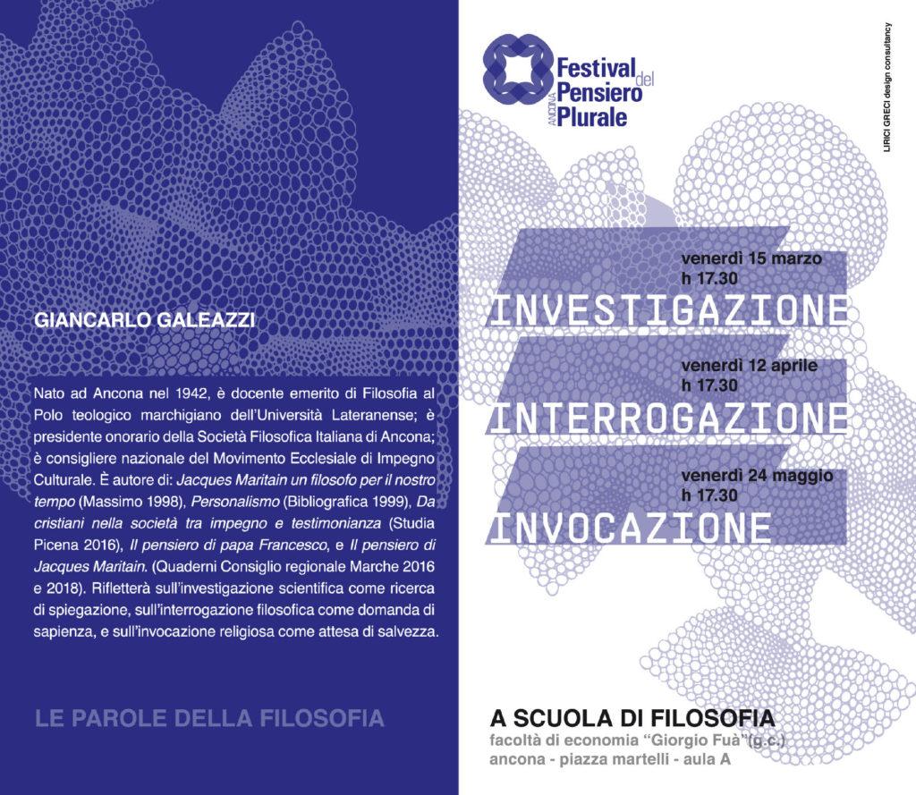 A scuola di filosofia - Giancarlo Galeazzi
